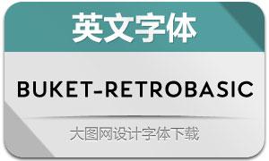 Buket-RetroBasic(英文字体)