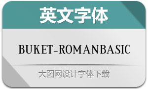 Buket-RomanBasic(英文字体)