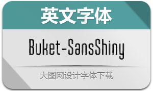 Buket-SansShiny(英文字体)