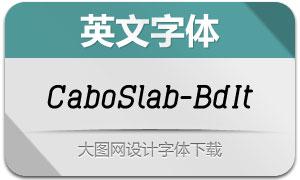 CaboSlab-BoldItalic(英文字体)