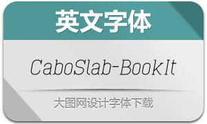 CaboSlab-BookIt(英文字体)
