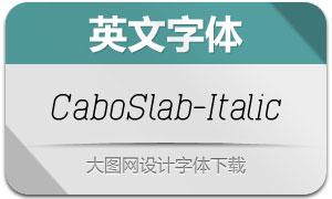 CaboSlab-Italic(英文字体)