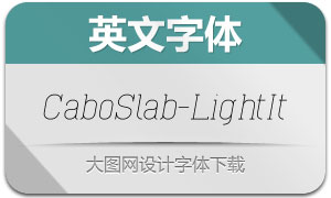 CaboSlab-LightItalic(英文字体)