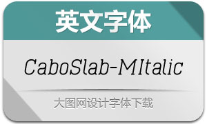 CaboSlab-MItalic(英文字体)