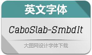 CaboSlab-SemiboldIt(英文字体)
