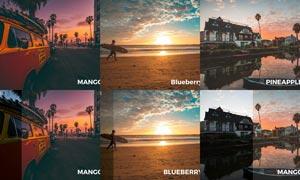 50款海边夕阳照片美化处理LR预设