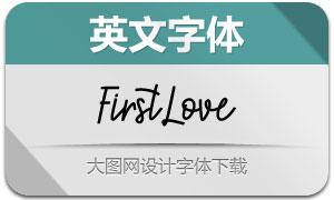 FirstLove(英文字体)