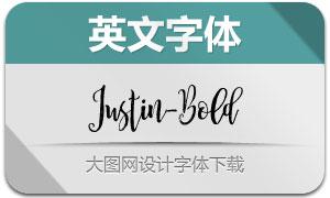 JustinBold(英文字体)