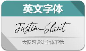 JustinSlant(英文字体)