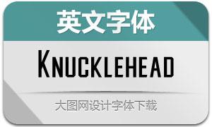 Knucklehead(英文字体)