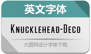 Knucklehead-Deco(英文字体)