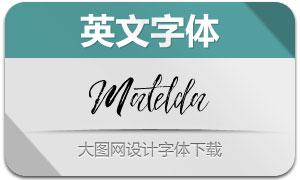 Matelda系列l两款英文字体