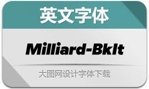 Milliard-BlackItalic(英文字体)