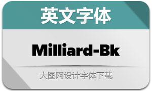 Milliard-Black(英文字体)