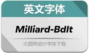 Milliard-BoldItalic(英文字体)
