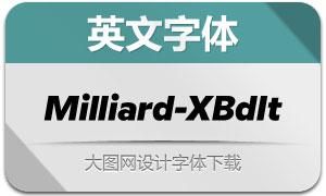 Milliard-ExtraBoldItalic(英文字体)