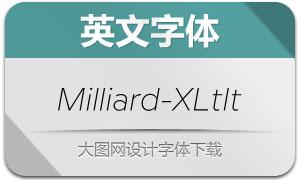 Milliard-ExtraLightItalic(英文字体)
