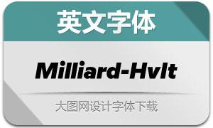 Milliard-HeavyItalic(英文字体)