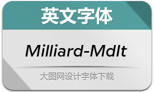 Milliard-MediumItalic(英文字体)