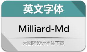 Milliard-Medium(英文字体)