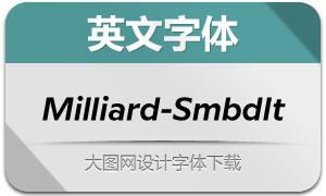 Milliard-SemiBoldItalic(英文字体)