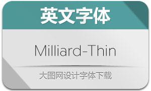 Milliard-Thin(英文字体)