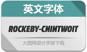 Rockeby-CnInTwoIt(英文字体)
