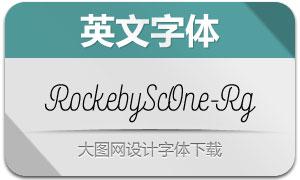 RockebyScOne-Regular(英文字体)