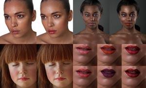 人物肖像后期磨皮和化妆PS动作
