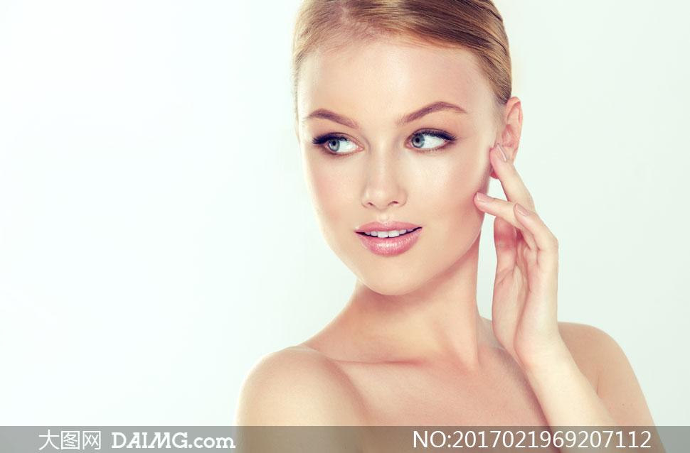 护肤妆容主题美女人物摄影高清图片