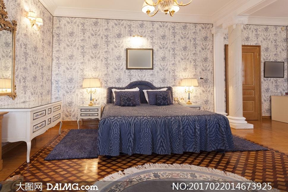 室内空间装饰家装渲染图家居效果图摆设陈设房间卧室