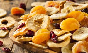 烘干工艺处理的水果干摄影高清图片