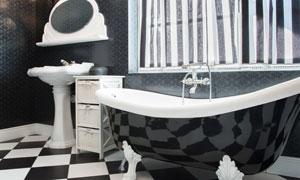 欧式宫廷奢华浴室内景摄影高清图片