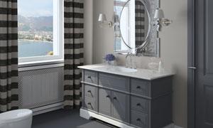 欧式复古风卫生间装饰摄影高清图片