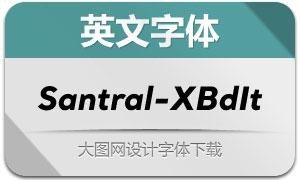 Santral-ExtraBoldItalic(英文字体)