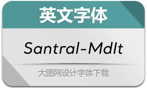 Santral-MediumItalic(英文字体)