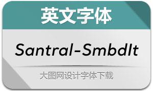 Santral-SemiBoldItalic(英文字体)