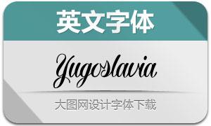 Yugoslavia(英文字体)