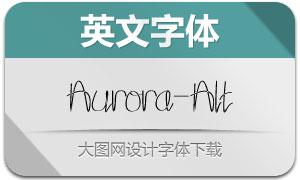 Aurora-Alternate(英文字体)