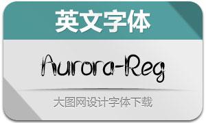 Aurora-Regular(英文字体)