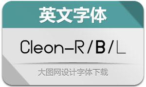 Cleon系列三款英文字体