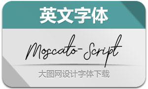 Moscato-Script(英文字体)