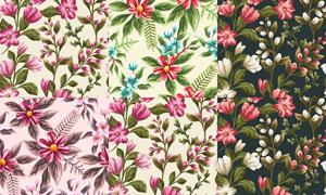 无缝效果花朵图案背景矢量素材集V1
