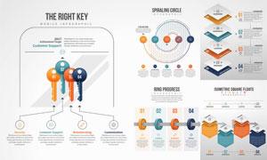 多种展示方式信息图表创意矢量素材
