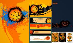 篮球运动海报与BANNER矢量素材