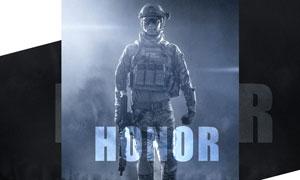 战争主题风格的电影海报PS教程素材