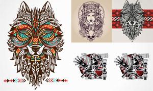 形态各异的纹身图案创意矢量素材V1