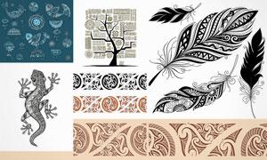 形态各异的纹身图案创意矢量素材V4