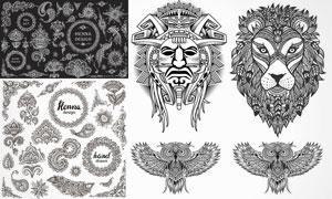形态各异的纹身图案创意矢量素材V5