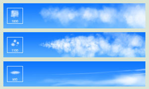 高清晰云彩和云朵装饰PS笔刷